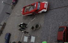 Cvičení hasičů v Uh. Ostrohu