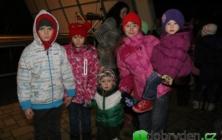 Rrozsvícení vánočního stromu ve Starém Hrozenkově