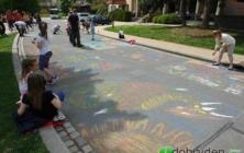 Rodinné malování v Buchlovicích