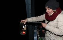 Silvestrovské rozsvícení kostelanského mostu