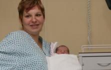 První miminko Česka je z Huštěnovic