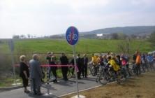 Otevírání cyklostezky v Prakšicích