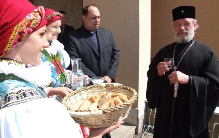 Bánov navštívila Jeho Blaženost vladyka Kryštof