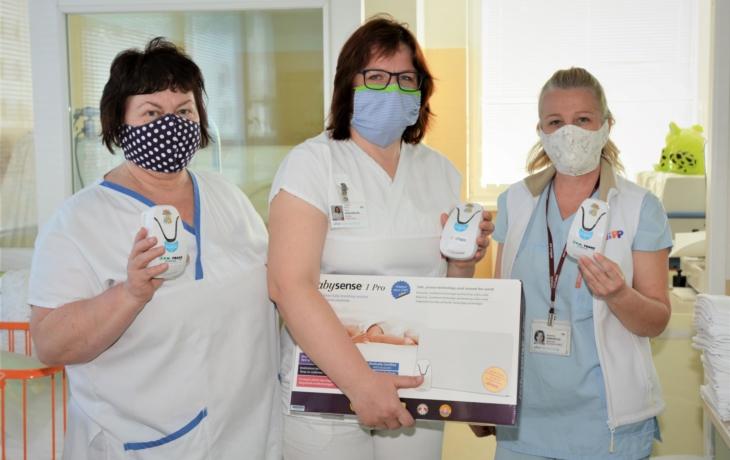 Hradišťská porodnice má nové monitory dechu, kvůli pandemii koronaviru přišly poštou