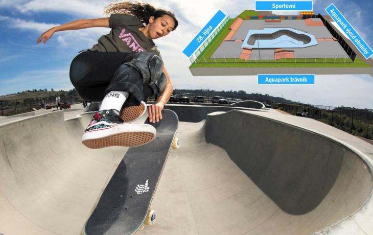 Skatepark, který vyrůstá v areálu aquaparku, rozděluje město. Prý je pro hrstku lidí a drahý