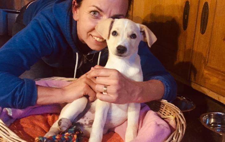 Tereza Novotná zachránila štěně z útulku