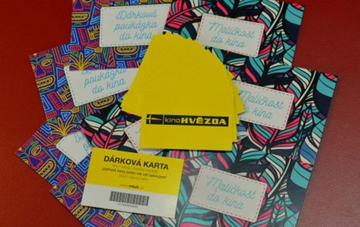 Také dárkové karty můžete koupit on-line v kině
