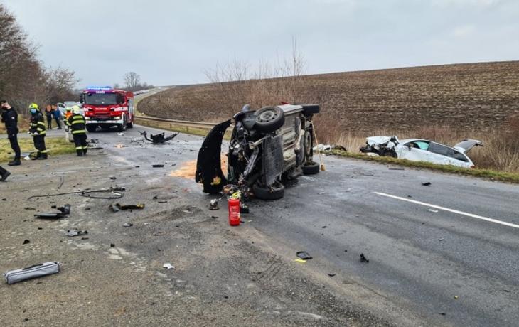 Vážná nehoda v Kunovicích, čtyři zranění