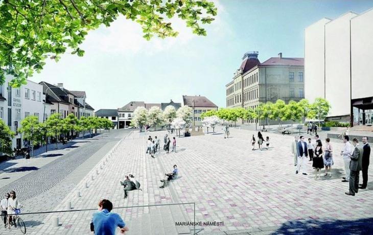"""Architekti si posvítili na Mariánské náměstí, vítěz zaujal """"kamennou strání"""""""