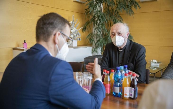 Zlínský kraj navštívil olomoucký arcibiskup Jan Graubner
