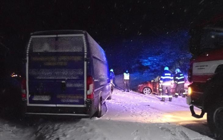 Havárie zablokovala silnici na Slovensko