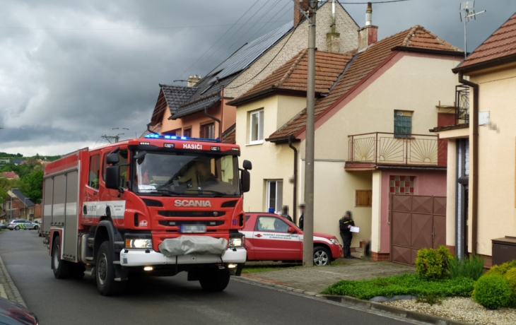 Tragédie v Dolním Němčí, v domě uhořel muž