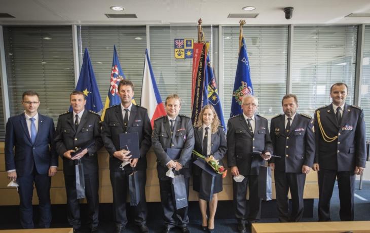 V sídle kraje byli oceněni dobrovolní i profesionální hasiči