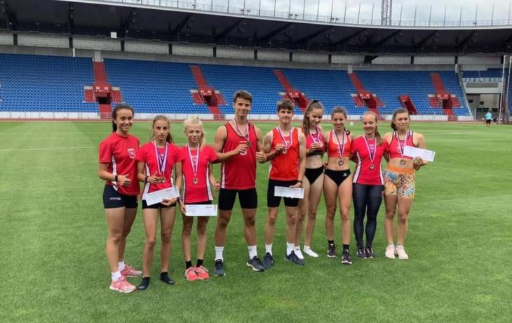 Medaile a osobní rekordy, atleti ovládli Moravu