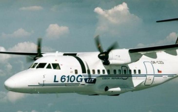 Řidiče přivítá letoun L610