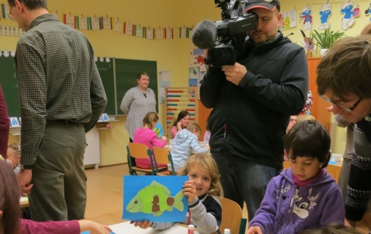 Předškoláky překvapil štáb křesťanské televize