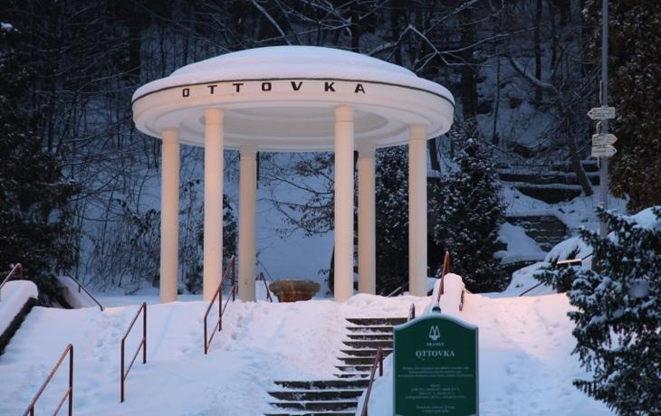 S příchodem mrazů se některé prameny v Luhačovicích uzavřely