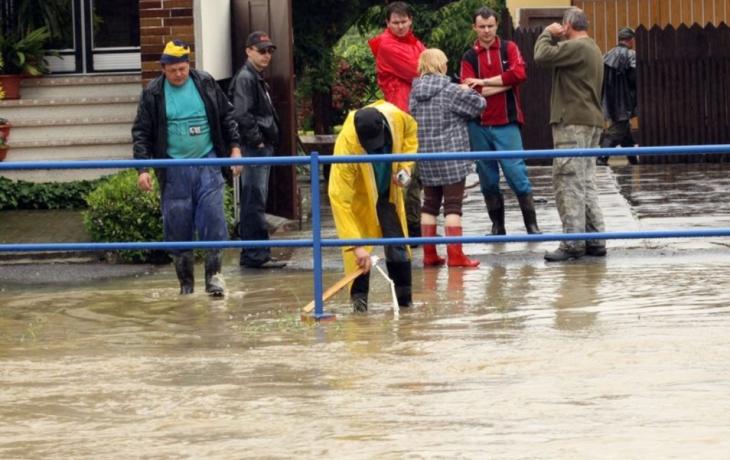 Varovný systém selhal, voda páchala škody