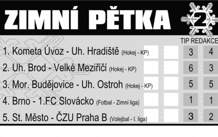Ivan Mařák vítězem prvního kola Zimní pětky