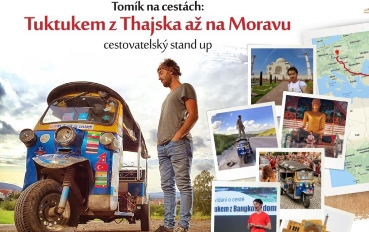 Tuktukem z Thajska až na Moravu