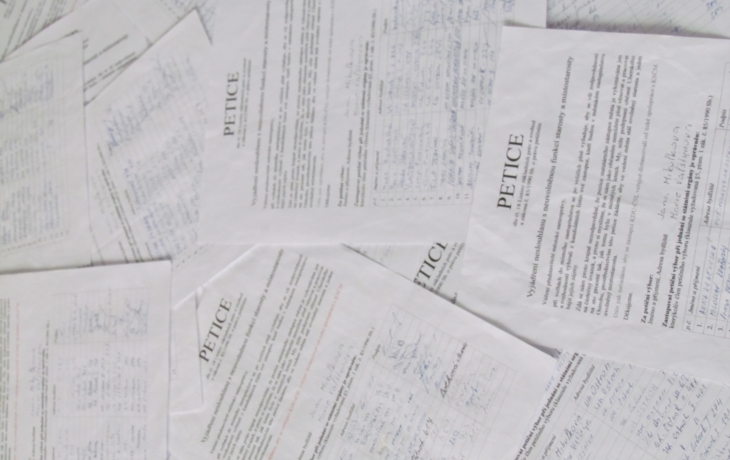 Petici v Ostrohu chybí podpora