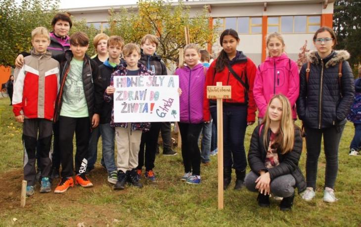 Boršická škola stromům zaslíbená