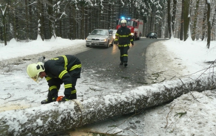 Ledovka umravnila řidiče