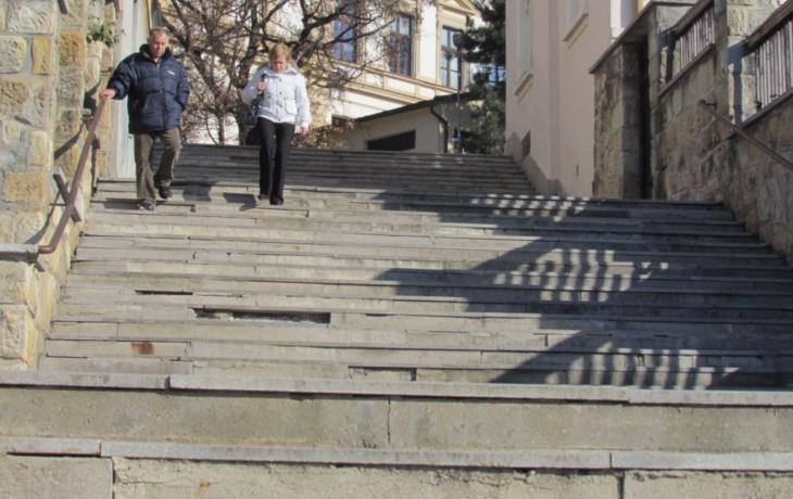 Obnova Velkých schodů netáhla. Firmy se přihlásily až na druhý pokus