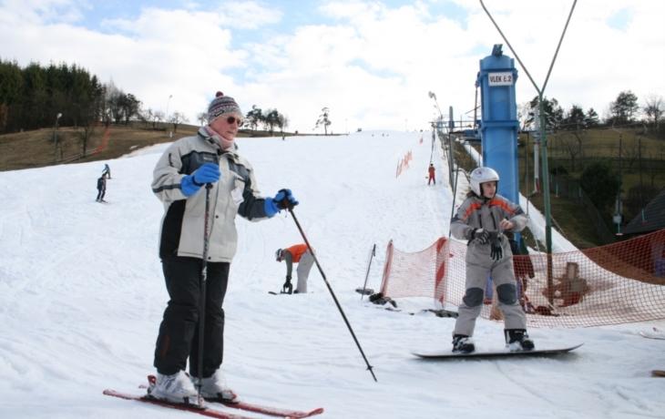 Na Stupavě se lyžuje od pátku