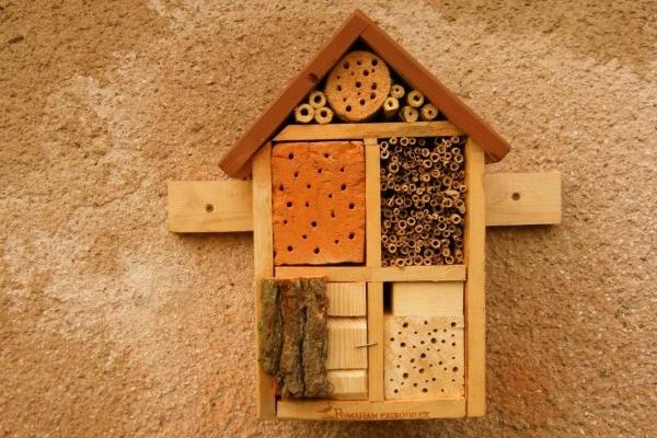 Hitem přírodní zahrady je hotel pro hmyz a ježkoviště