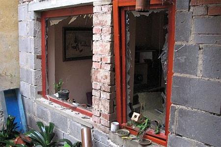 Výbuch plynu zdemoloval celý dům