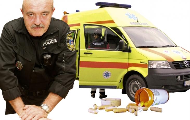 Velitel strážníků zachránil život mladé ženy, která spolykala léky