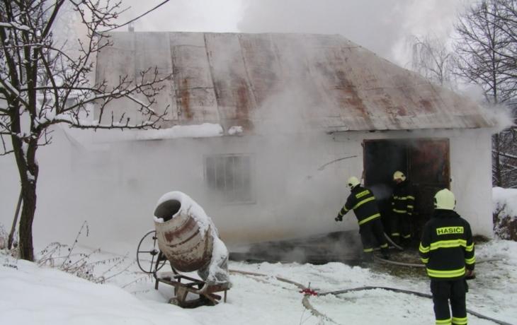 Zásah hasičů v krutých podmínkách