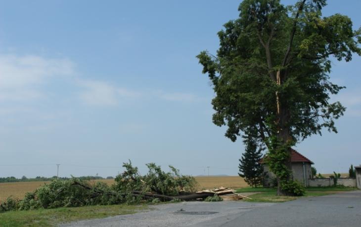 Bouřky zasáhly celý region