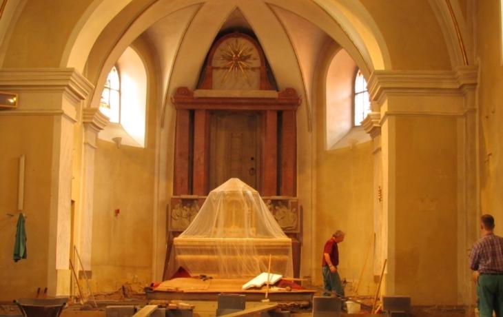 Blatnický kostel je uzavřen