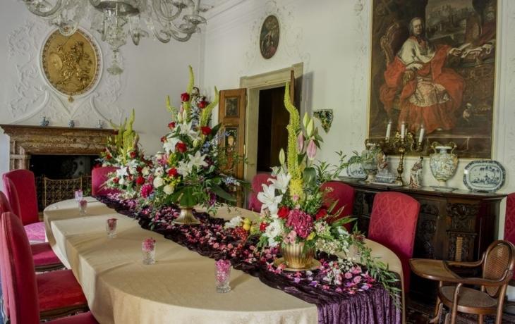 Růže na buchlovickém zámku