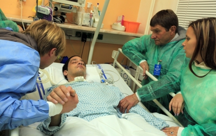 Váňa přijel podpořit zraněného žokeje