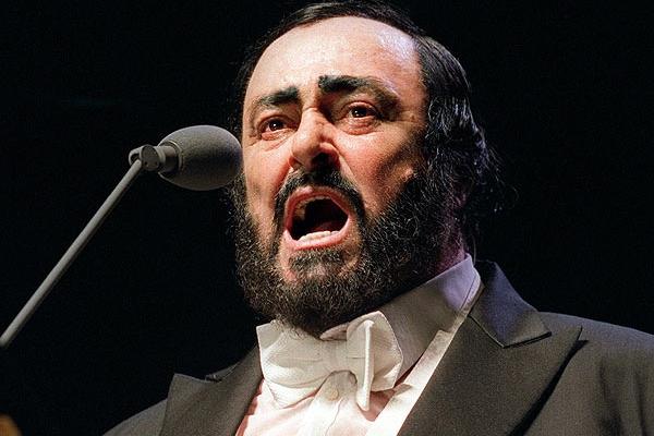 Pavarotti v záznamu koncertu