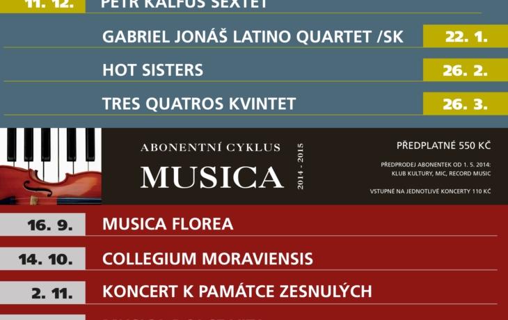 Nová sezona Jazzu v Redutě a cyklus Musica