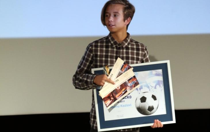 Fotbalový talent roku získal cenu senátora Ivo Valenty!