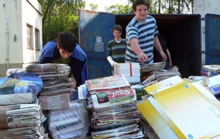 Školáci z Traplic nasbírali 28 tun papíru!