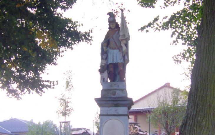 Opraví sochu sv. Floriána od neznámého autora