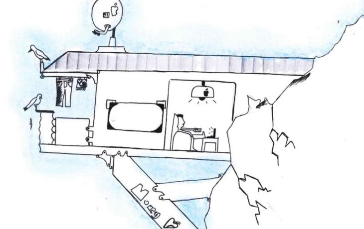 Dětský architekt navrhl dům na skále