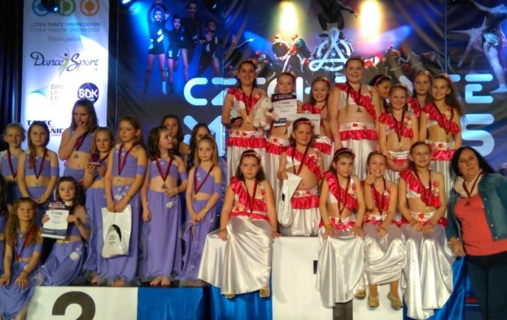 Tanečnice z Kněžpole mistryněmi Česka hned dvakrát