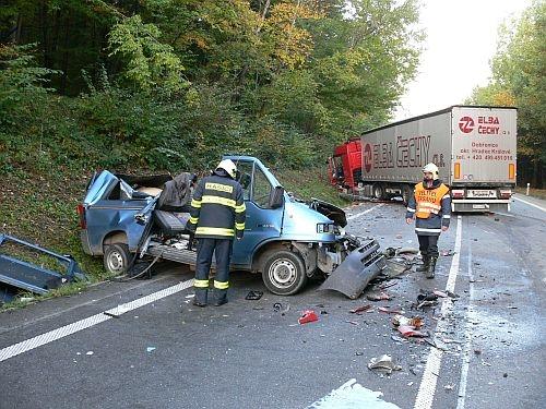 Nehoda působila dopravní zmatky
