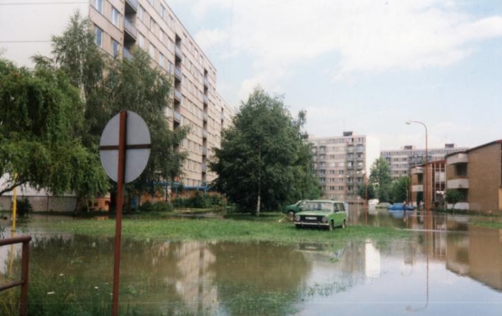 Sídliště Štěpnice se změnilo v obrovskou lagunu