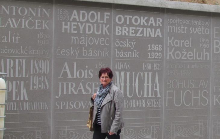 Zeď cti připomíná osobnosti, které se zamilovaly do lázní