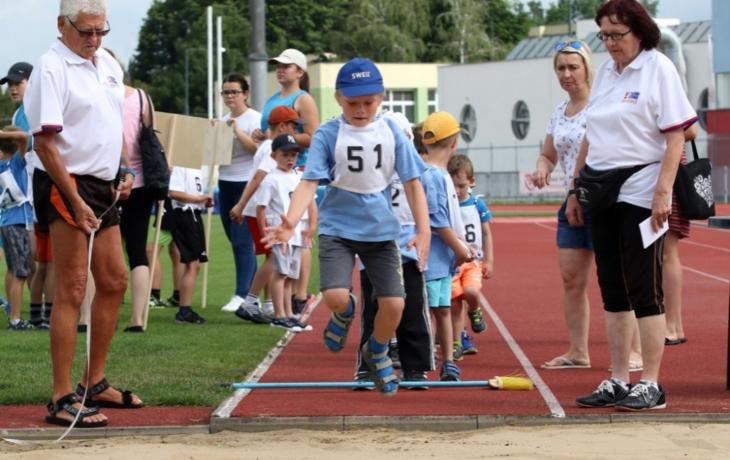 Mateřinky soutěžily na stadionu